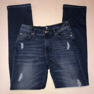 7 For All Mankind Slimmy Jeans Boys 16 Distressed